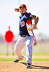 1 March 2010: Washington Nationals' relief pitcher Joel Peralta on the mound during Spring Training at the Carl Barger Baseball Complex in Viera, Florida. Mandatory Credit: Ed Wolfstein Photo