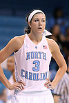 30 October 2013: North Carolina's Megan Buckland. The University of North Carolina Tar Heels played the Carson-Newman College Eagles in a women's college basketball exhibition game at Carmichael Arena in Chapel Hill, North Carolina. UNC won the preseason game 111-50.