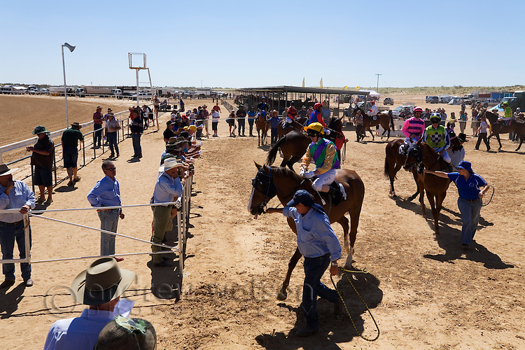 Birdsville Cup horse races in the outback town of Birdsville, Queensland, Australia
