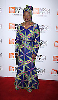 "NEW YORK, NY-September 30:Angelique Kidjo at 54th New York Film Festival - Opening Night Gala Presentation And ""13th"" World Premiere at Alice Tully Hall at Lincoln Center in New York. September 30, 2016. Credit:RW/MediaPunch"