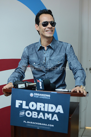 MIAMI, FL - AUGUST 02: Marc Anthony opens Obama For America Campaign Office In Little Havana on August 2, 2012 in Miami, Florida. © mpi04/MediaPunch Inc.