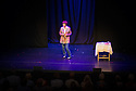 Edinburgh, UK. 08.08.2014.  Poet, Pam Ayres, on stage at the Assembly Rooms as part of Edinburgh Festival Fringe. Photograph © Jane Hobson.