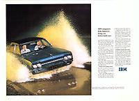 IBM Car Ad. 1964 Photo by John G. Zimmerman.