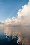 Nilandhoo Island, Huvadhoo Atoll, Maldives; cloud formations reflecting in the Indian Ocean