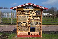 Insekten Hotel: EUROPA, DEUTSCHLAND, HAMBURG, (EUROPE, GERMANY), 16.04.2013: Insekten Hotel