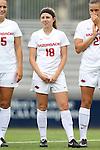 07 September 2014: Arkansas' Kaylyn Cooper. The University of North Carolina Tar Heels played the University of Arkansas Razorbacks at Koskinen Stadium in Durham, North Carolina in a 2014 NCAA Division I Women's Soccer match. UNC won the game 2-1.