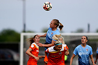 Piscataway, NJ - Saturday May 20, 2017: Leah Galton, Rachel Daly during a regular season National Women's Soccer League (NWSL) match between Sky Blue FC and the Houston Dash at Yurcak Field.  Sky Blue defeated Houston, 2-1.