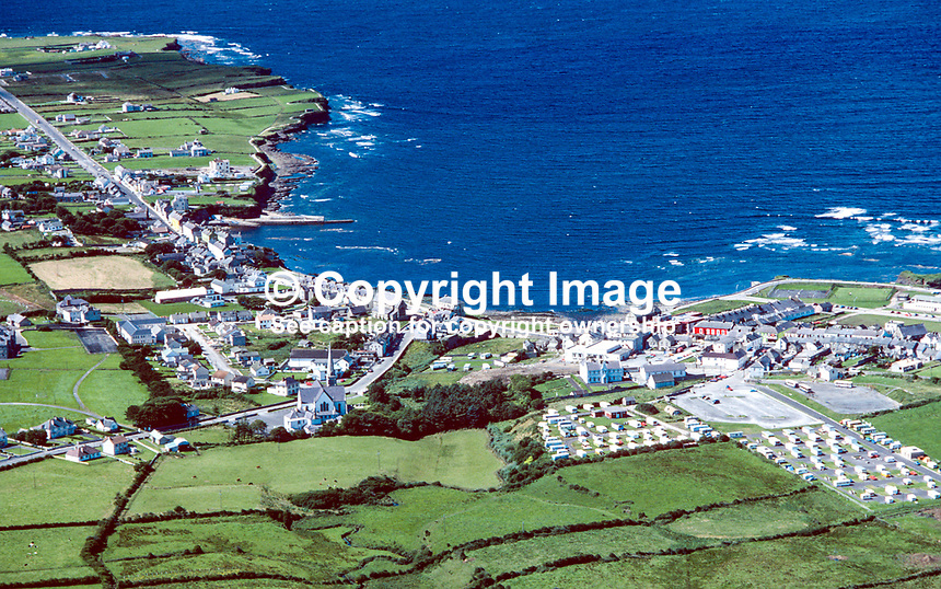 Aerial photograph, Bundoran, Co Donegal, Rep of Ireland, 19790164c..Copyright Image from Victor Patterson, 54 Dorchester Park, Belfast, UK, BT9 6RJ..Tel: +44 28 9066 1296.Mob: +44 7802 353836.Voicemail +44 20 8816 7153.Skype: victorpattersonbelfast.Email: victorpatterson@me.com.Email: victorpatterson@ireland.com (back-up)..IMPORTANT: If you wish to use this image or any other of my images please go to www.victorpatterson.com and click on the Terms & Conditions. Then contact me by email or phone with the reference number(s) of the image(s) concerned.