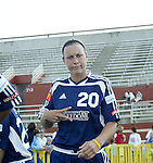 19 June 2004: Abby Wambach before the game. The Washington Freedom tied the Boston Breakers 3-3 at the National Sports Center in Blaine, MN in Womens United Soccer Association soccer game featuring guest players from other teams.