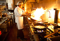 The kitchen at Madam Tusan restaurant in Lima, Peru.