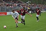 Sandhausen 19.04.2008, Am Ball Christian Beisel (SV Sandhausen) es schauen zu Ersin Demir (Ingolstadt) und Ali Gerba (Ingolstadt) in der Regionalliga S&uuml;d 2007/08 SV Sandhausen 1916 - FC Ingolstadt 04<br /> <br /> Foto &copy; Rhein-Neckar-Picture *** Foto ist honorarpflichtig! *** Auf Anfrage in h&ouml;herer Qualit&auml;t/Aufl&ouml;sung. Belegexemplar erbeten.