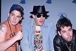 "BEASTIE BOYS - Adam""Ad-Rock"" Horovitz, Adam ""MCA"" Yauch, ""Mike D"" Diamond - at the Grammy Awards, Los Angeles , Ca Feb 24, 1987"