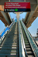LACMTA (Los Angeles County Metropolitan Transportation Authority) Metro Platform Sign