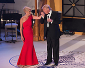 President-elect of The United States Donald J. Trump kisses the hand of his campaign manager Kellyanne Conway at the &quot;Candlelight&quot; dinner to thank donors in Washington, DC, January 19, 2017. <br /> Credit: Chris Kleponis / Pool via CNP