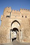 Puerta del Sol, Mudejar style construction, Toledo, Castile La Mancha, Spain