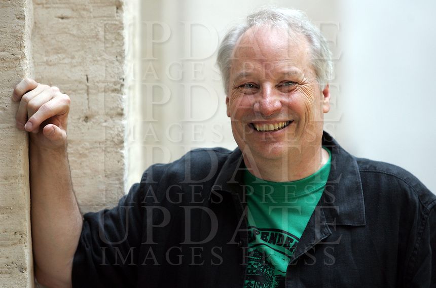 Lo scrittore statunitense Joe Richard Lansdale ritratto in occasione del Festival Internazionale delle Letterature a Roma, 26 maggio 2008..U.S. writer Joe Richard Lansdale portrayed in occasion of the International Literature Festival in Rome, 26 may 2008..UPDATE IMAGES PRESS/Riccardo De Luca