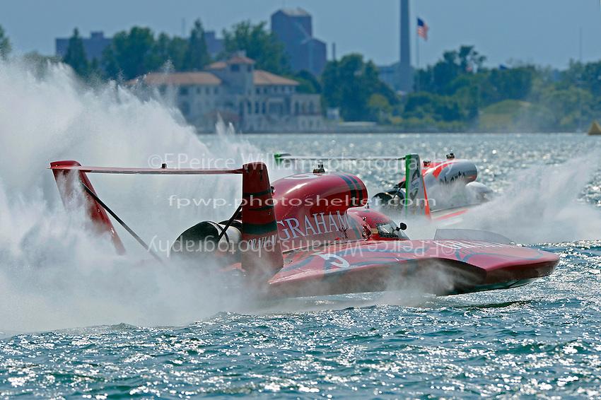 "J. Michael Kelly, U-5 ""Graham Trucking I"" and Jimmy Shane, U-1 ""Oberto"" (Unlimited Hydroplane)"