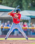 4 September 2016: Lowell Spinners first baseman Tucker Tubbs in action against the Vermont Lake Monsters at Centennial Field in Burlington, Vermont. The Spinners defeated the Lake Monsters 8-3 in NY Penn League action. Mandatory Credit: Ed Wolfstein Photo *** RAW (NEF) Image File Available ***