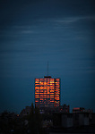 Winter sunset hits a building in Brussels, November 2013. (c) Dave Walsh