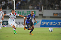 Yuki Fukaya (Ardija), Rafinha (Gamba), SEPTEMBER 10, 2011 - Football / Soccer : 2011 J.League Division 1 match between Gamba Osaka 2-0 Omiya Ardija at Expo '70 Stadium in Osaka, Japan. (Photo by AFLO)
