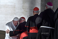 Pope Francis during an audience to the Padre Pio Prayer Groups in Vatican. on February 6, 2016