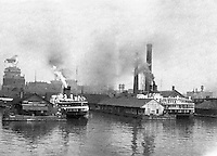 Toronto Ontario Canada:  Ferries docked at Toronto Harbor - 1914