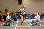 NAPERVILLE, IL - MARCH 11: Alexa Wandy of SUNY Geneseo competes in the triple jump at the Division III Men's and Women's Indoor Track and Field Championship held at the Res/Rec Center on the North Central College campus on March 11, 2017 in Naperville, Illinois. (Photo by Steve Woltmann/NCAA Photos via Getty Images)