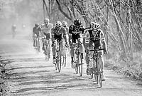 Matteo Trentin (ITA/QuickStep Floors) racing over the 'Plugstreets' gravel roads<br /> <br /> 79th Gent-Wevelgem 2017 (1.UWT)<br /> 1day race: Deinze &rsaquo; Wevelgem - BEL (249km)