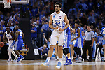North Carolina Tar Heels forward Luke Maye reacts after a three pointer against the Kentucky Wildcats during the 2017 NCAA Men's Basketball Tournament South Regional Elite 8 at FedExForum in Memphis, TN on Friday March 24, 2017. Photo by Michael Reaves | Staff