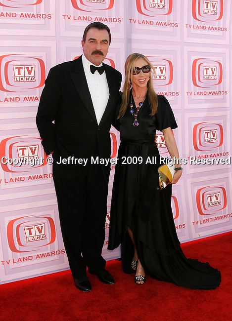 UNIVERSAL CITY, CA. - April 19: Tom Selleck and wife Jillie Mack arrive at the 2009 TV Land Awards at the Gibson Amphitheatre on April 19, 2009 in Universal City, California.