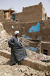Mohamed Ahmed Ismail in front of his demolished house..Qurna, Luxor, Egypt..Photo: Eduardo Martino