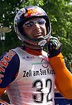 1. Inline Downhill Weltmeisterschaft, Zell am See (Austria) Gewinner der Silbermedaille: Stefano Galliazzo (Italy) mit Helm