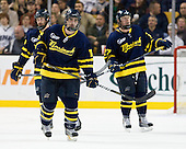 Brandon Brodhag (Merrimack - 12) - The Merrimack College Warriors defeated the University of New Hampshire Wildcats 4-1 in their Hockey East Semi-Final on Friday, March 18, 2011, at TD Garden in Boston, Massachusetts.