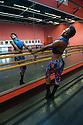 Baden Baden, Germany. 15.06.2013. Ebony Williams, Cedar Lake Contemporary Ballet, rehearsal room, Festspielhaus. Photograph © Jane Hobson, 2013.,