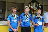 KAATSEN: LEEUWARDEN: 20-07-2014, Rengersdag, Tjisse Steenstra, Herman Sprik en Cornelis Terpstra, ©foto Martin de Jong