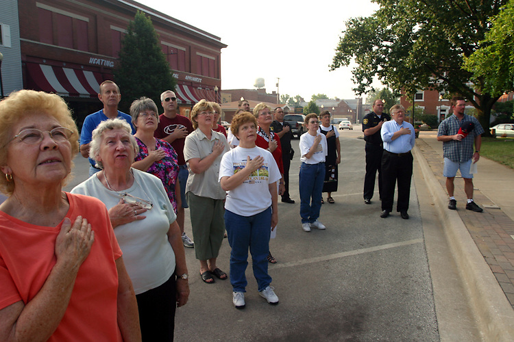 Every Wednesday morning at 7:30 long-time Beardstown residents gather at the downtown square-the same one where Stephen Douglas and Abraham Lincoln spoke - to pray for American troops overseas.