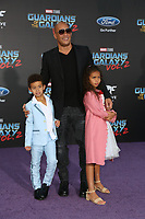 19 April 2017 - Hollywood, California - Vin Diesel, Hania Riley Sinclair, Vincent Sinclair. Premiere Of Disney And Marvel's &quot;Guardians Of The Galaxy Vol. 2&quot; held at Dolby Theatre. <br /> CAP/ADM/PMA<br /> &copy;PMA/ADM/Capital Pictures