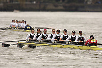 Chiswick, London. ENGLAND,11.03.2006, Thames RC crew No.1, pass Chiswick Pier during the 2006 Women's Head of the River Race Mortlake to Putney  on Saturday 11th March    © Peter Spurrier/Intersport-images.com.. 2006 Women's Head of the River Race. Rowing Course: River Thames, Championship course, Putney to Mortlake 4.25 Miles