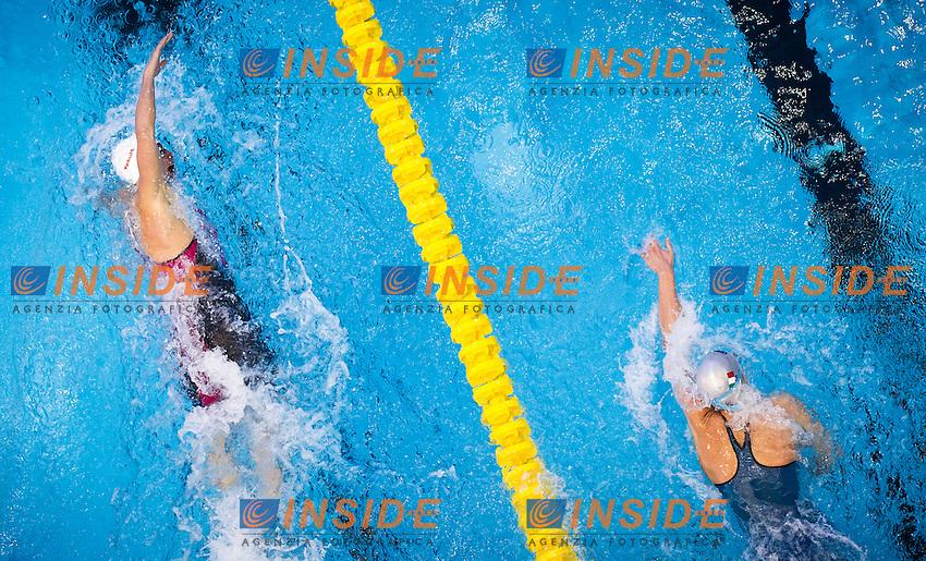 HOSSZU Katinka HUN, PELLEGRINI Federica ITA<br /> Women's 200m freestyle heats<br /> Netanya, Israel, Wingate Institute<br /> LEN European Short Course Swimming Championships <br /> Dec. 2 - 6, 2015 Day 04 Dec.05<br /> Nuoto Campionati Europei di nuoto in vasca corta<br /> Photo Giorgio Perottino/Deepbluemedia/Insidefoto