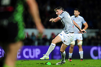 Rhys Priestland of Bath Rugby kicks for the posts. European Rugby Challenge Cup match, between Pau (Section Paloise) and Bath Rugby on October 15, 2016 at the Stade du Hameau in Pau, France. Photo by: Patrick Khachfe / Onside Images