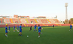 St Johnstone v Eskisehirspor....18.07.12  Uefa Cup Qualifyer.St Johnstone players training in the Ataturk Stadium.Picture by Graeme Hart..Copyright Perthshire Picture Agency.Tel: 01738 623350  Mobile: 07990 594431
