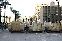 The Egyptian army near Tahrir Square.