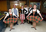 St Johnstone v Eskisehirspor....26.07.12  Europa League Qualifyer.Turkish guests greeted at McDiarmid Park by Scottish Dancers.Picture by Graeme Hart..Copyright Perthshire Picture Agency.Tel: 01738 623350  Mobile: 07990 594431