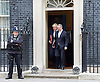 Cabinet meeting arrivals <br /> 10 Downing Street London Great Britain <br /> 25th October 2016 <br /> <br /> Boris Johnson and Liam Fox leave Downing Street <br /> <br /> <br /> Photograph by Elliott Franks <br /> Image licensed to Elliott Franks Photography Services