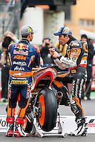 Marc Marquez and Sandro Cortes presentation in Moto GP 2013