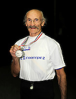 Birmingham, Great Britain, Rome Olympics gymnast Dick GRADLEY Men 75-79 lightweight silver Medallist, from York City Rowing Club. 2008 British Indoor Rowing Championships, National Indoor Arena. on  Sunday 26.10.2008 . [Photo, Peter Spurrier/Intersport-images]
