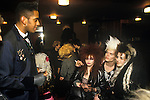Sigue Sigue Sputnik. Neal Whitmore with fans after the gig. Punk band 1980s. Newcastle Upon Tyne. UK