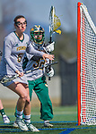 30 March 2016: University of Vermont Catamount Goalkeeper Catherine Green, a Freshman from Merrimack, NH, in first half action against the Manhattan College Jaspers at Virtue Field in Burlington, Vermont. The Lady Cats defeated the Jaspers 11-5 in non-conference play. Mandatory Credit: Ed Wolfstein Photo *** RAW (NEF) Image File Available ***