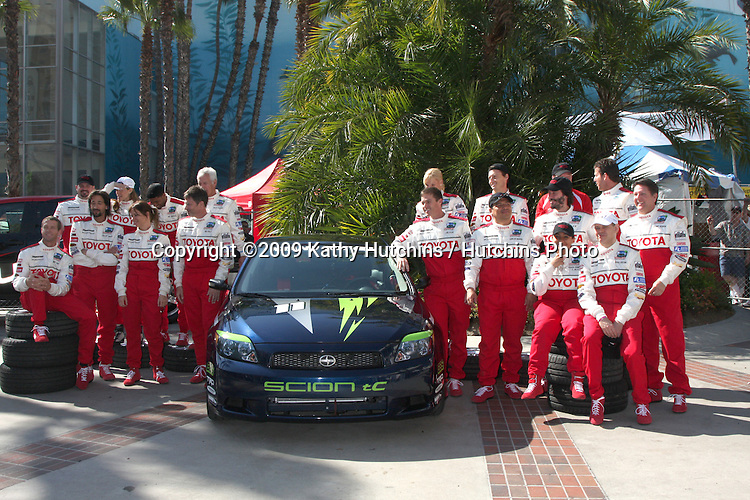 2009 Pro/Celeb Race Participants at the  Toyota Pro/Celeb Race Day on April 18 ,2009 at the Long Beach Grand Prix course in Long Beach, California..©2009 Kathy Hutchins / Hutchins Photo....                .