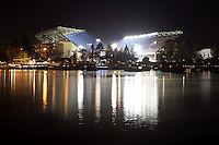 This photo was taken during the final game at the &quot;old&quot; Husky Stadium, prior to renovation.  It was photographed during the third quarter of Washington's football game against the Oregon Ducks on November 5, 2011.<br />